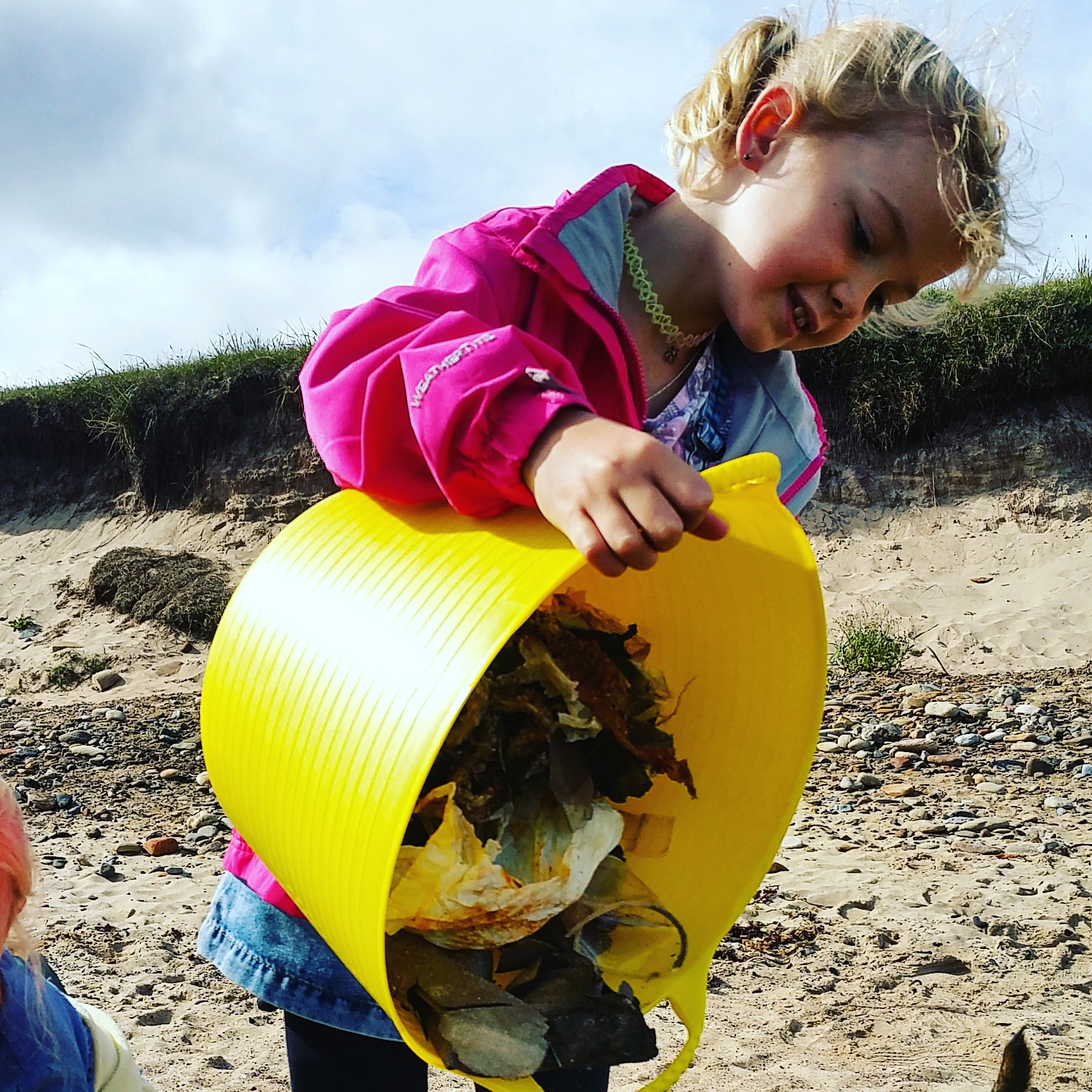 Starting them young - beach cleans are great for kids!