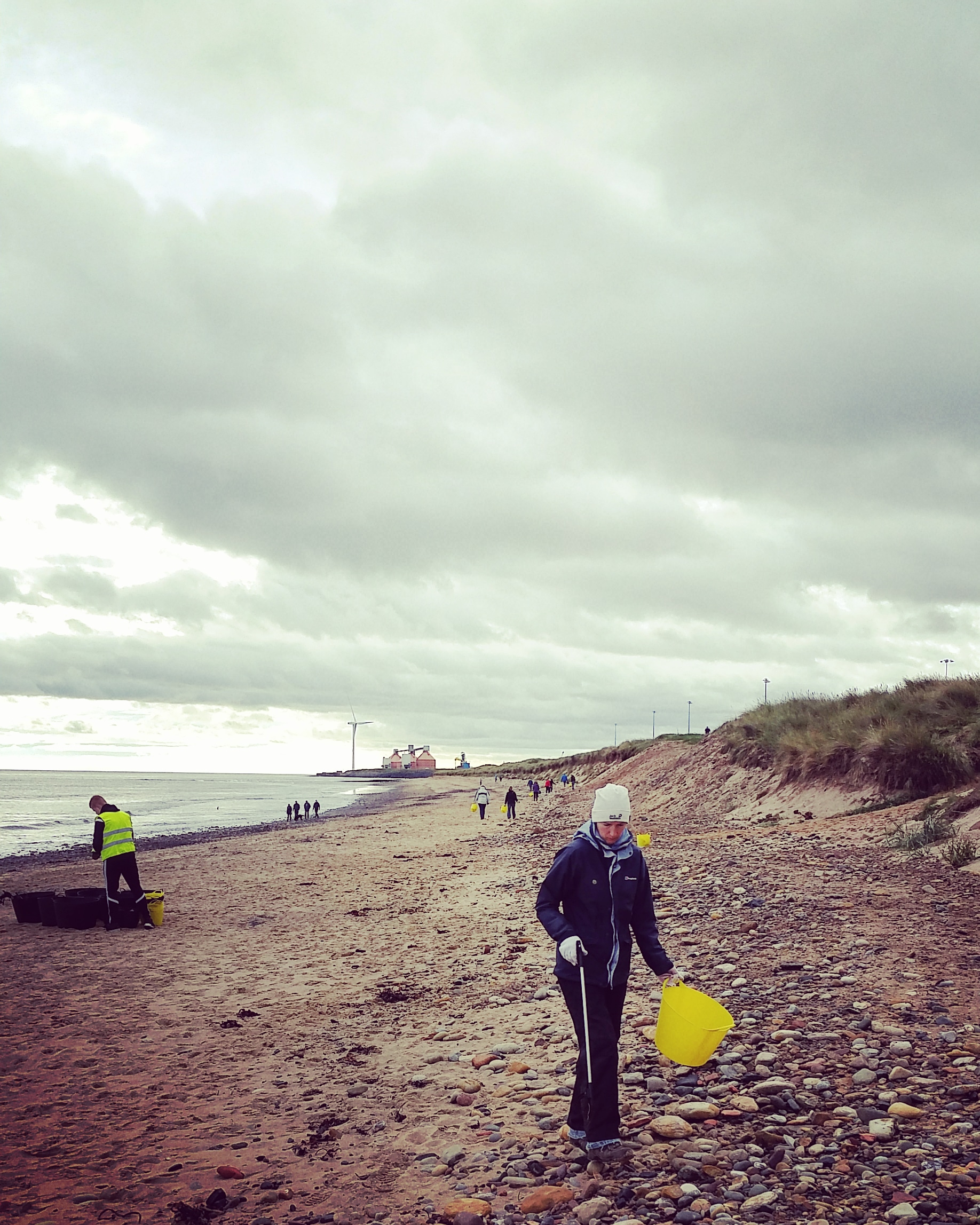 Lovely day for a beach clean in Cambois!