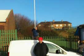Flying the flag at Arbeia Diving