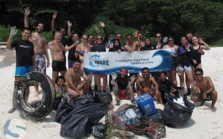 One of the many clean ups we did in Tioman