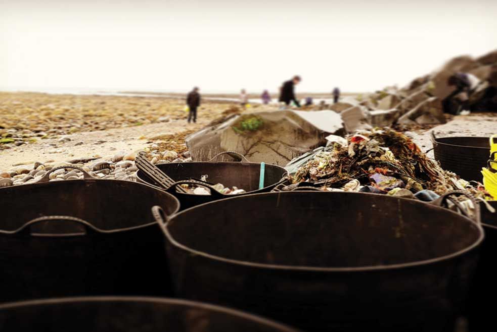 Buckets of rubbish removed from Cambois beach by volunteers at The Fifth Point's latest clean up