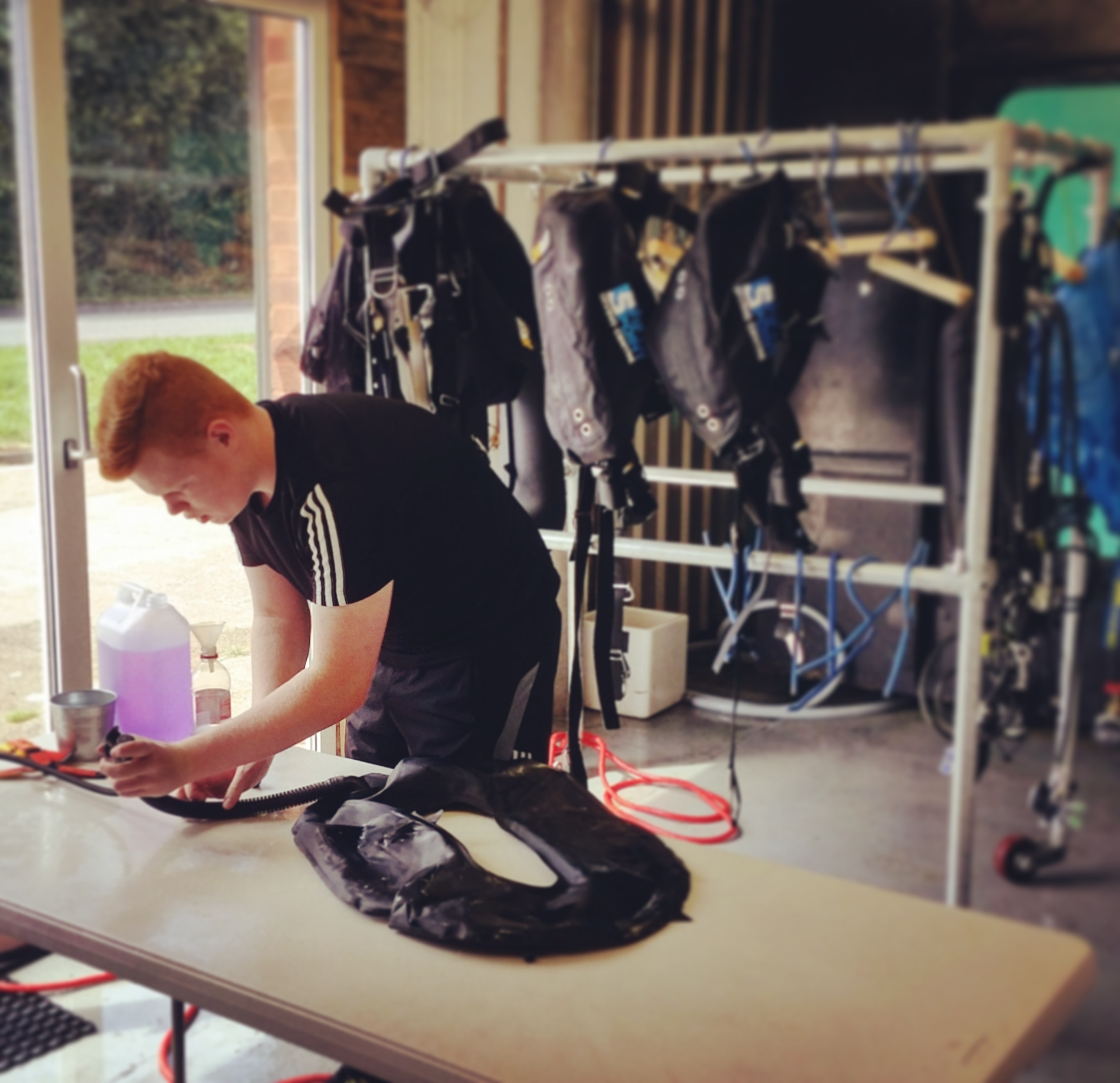 We regularly disinfect our rental scuba diving equipment