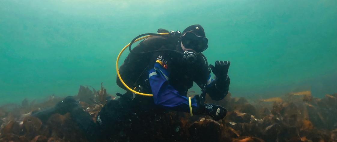 UK drysuit diver