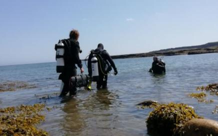 Diving Lady Hole, Beadnell, Northumberland