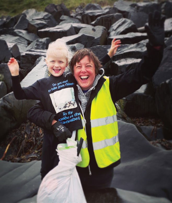 Five year old Rayer has a mission to rid the ocean of plastic, she joined us on The Fifth Point Diving Centre's latest beach clean
