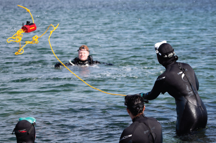 Reaching rescue level of PADI certification